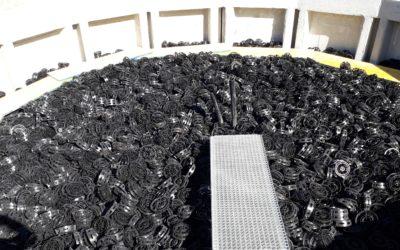 UNFAMED FABRICANTES AGUA, proveedor del relleno plástico desordenado SYSTEM-P para la nueva EDAR del curso bajo del río Urederra, en Navarra