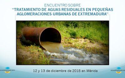 """UNFAMED FABRICANTES AGUA participa en el encuentro sobre """"Tratamiento de aguas residuales en pequeñas aglomeraciones urbanas de Extremadura"""", el 12 y 13 de diciembre, en Mérida"""