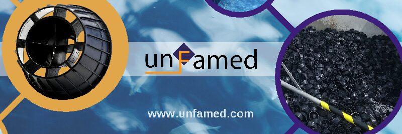 UNFAMED FABRICANTES AGUA fabrica el relleno plástico desordenado para la depuradora de Urdax, en Navarra