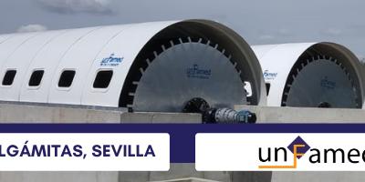 Unfamed Fabricantes ha instalado los biodiscos de la futura EDAR de Algámitas en Sevilla.