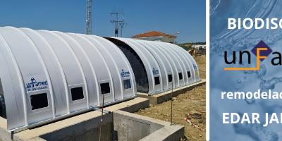 UNFAMED instala los biodiscos de la EDAR de Jaraicejo, Cáceres.